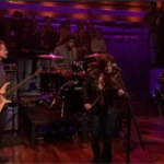 John Paul Jones with Sara Watkins on the Jimmy Fallon Show