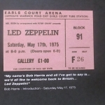 IT WAS 40 YEARS AGO TODAY: LED ZEPPELIN AT EARLS COURT MAY 17 1975 /DL DIARY UPDATE