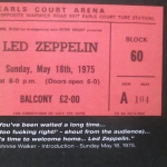 IT WAS 40 YEARS AGO TODAY – LED ZEPPELIN AT EARLS COURT MAY 18 1975