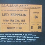 IT WAS 40 YEARS AGO TODAY – LED ZEPPELIN AT EARLS COURT MAY 23 1975 /DL DIARY UPDATE