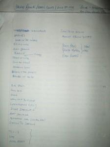 bowie ec set list