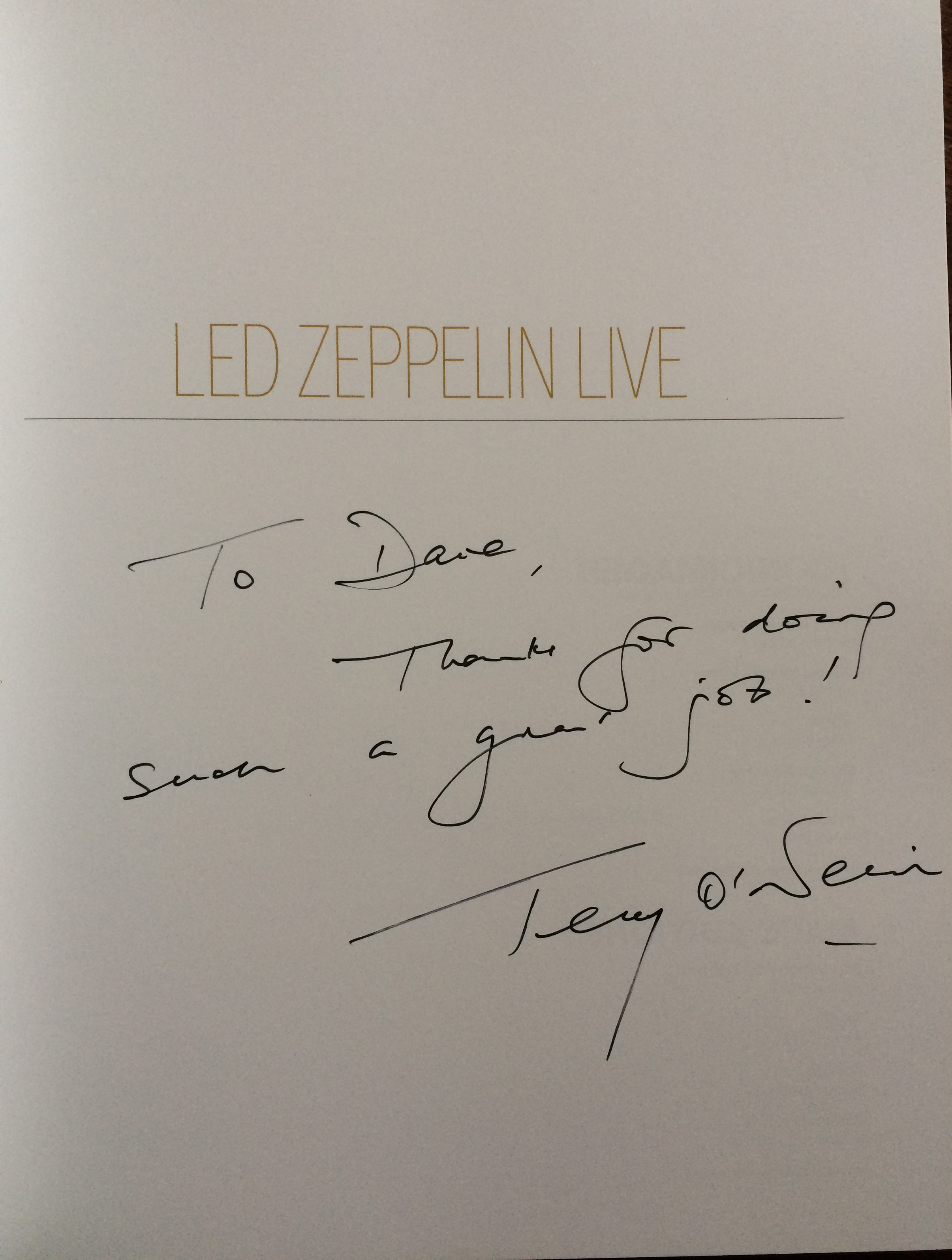 Tight But Loose Blog Archive Terry O Neill 1938 2019 Rip Lz News Electric Magic Empire Pool Led Zep Iv 48 Years Gone Olympia 2013 Vinyl Countdown Book Dave Lewis Diary Blog Update Tight But